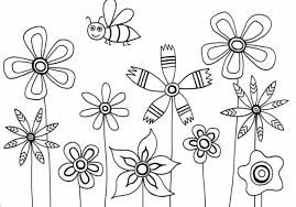 Small Picture Flower Coloring Pages For Kids Printable Flowers To Color Inside