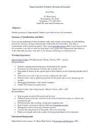 Resume Samples For Cashier In Supermarket Resume Papers Resume For