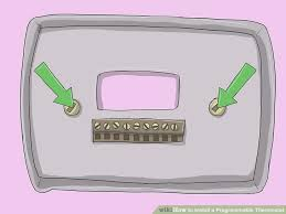 how to install a programmable thermostat 11 steps (with pictures) 8 Wire Thermostat Wiring Diagram image titled install a programmable thermostat step 8 Honeywell Thermostat Wiring Diagram