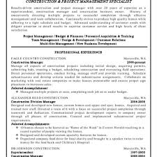 Construction Project Manager Resume Examples Inside Job Description