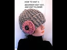 Easy Knit Hat Pattern Free Awesome KNIT HAT AND FLOWER EASY BEGINNER LEVEL Knitting Lessons Free