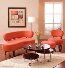 orange living room furniture. Modern Living Room Furniture With Orange Chairs And Round Table Contemporary Sets Design R