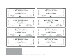 Ticket Template For Mac Pages