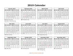 free calendar printable 2019 printable yearly calendar 2019 free calendar template com
