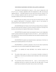 Agreement Form Examples Partnership Contracts Template With Sample Agreements Between Two 16