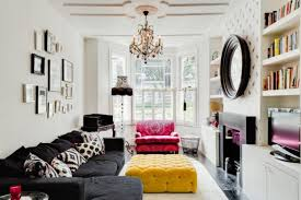 living room furniture ideas 5 arm multi coloured vintage marie therese chandelier yellow ottoman built in