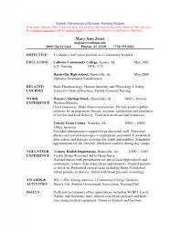 Cover Letter Chronological Resume Sample Chronological Resume Sample