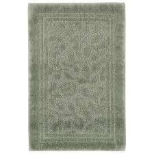 wellington 30 in x 50 in nylon bath rug in sage green