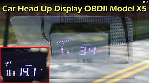 "Car <b>Head</b> Up Display 3"" <b>OBDII</b> (<b>HUD</b>) - Model X5 - YouTube"