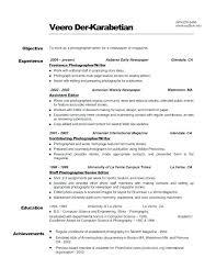 Photographer Resume Format Englishor Com