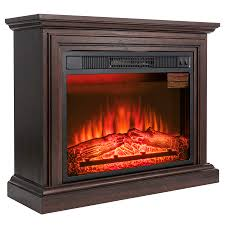 akdy fp0091 32 electric fireplace freestanding brown wooden mantel firebox heater 3d flame w