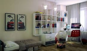 fabulous color cool teenage bedroom. Architecture, Cool White Teenage Bedroom Design With Red Chair And Bookshelves On Fabulous Color E