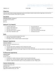 Sample Resume For Undergraduate Students Sample Resume Objective