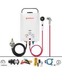 camplux lpg gas portable hot water heater camp shower caravan trade me