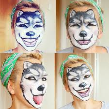 who needs a costume when your face looks like a wolf i wanted to show you guys how to do something that required no costume at all