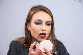 apply dark lipstick easy diy witch makeup tutorial diy makeup tutorial witch carnival