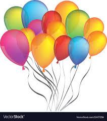 Colorful Bunch Birthday Balloons Decorative Design