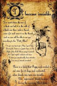 to bee invisible spell printable spell pages witches of the craft