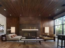 mid century wood paneled wall