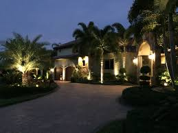 exterior outdoor landscape and lanai throughout naples fort myers cape c fl from vision landscape lighting