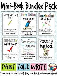 best grammar images school teaching ideas and  ela interactive notebook mini book bundle grammar punctuation essays etc