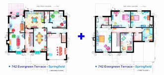 floor plan of the simpsons house new real simpsons houseor plans the plan print lego simpson
