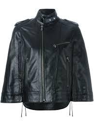 sel black gold wide sleeve zipped jacket women clothing sel black gold white leather jacket
