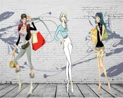<b>Beibehang Custom</b> Wallpaper Hand Drawn Wind <b>Fashion</b> - <b>Fashion</b> ...