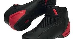 Puma Motorcycle Boots Size Chart Puma Flat 2 V2 Motorcycle Shoes Black Red Brand New Last