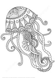 Small Picture Jellyfish Design Zentangle Coloring Page Art Culture Free