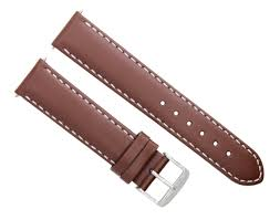 24mm leather watch strap band for zeno magellano light brown ws 4