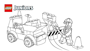Lego Juniors Dump Truck Coloring Page Coloring Pages Lego