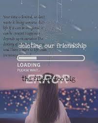 deleting friendship error the