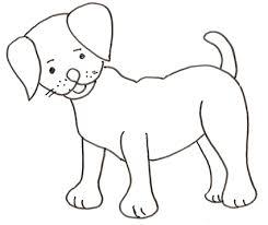 Disegno Di Cane In Piedi Cose Per Crescere