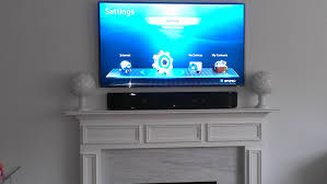 fireplace tv mount with soundbar ideas
