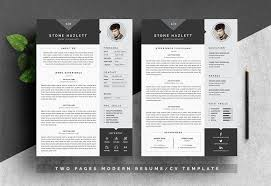 How Many Pages Is A Modern Resume Resume Templates Design Modern Resume Template 4 Pages