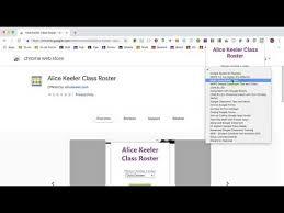 Google Classroom Class Roster Chrome Extension Teacher Tech