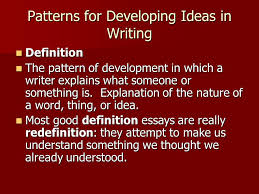 patterns for developing ideas in writing ppt video online patterns for developing ideas in writing