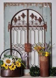metal garden gate wall decor