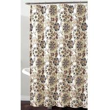 black and cream shower curtain home fashions medallion fabric shower curtain in shades of grey golden black and cream shower curtain