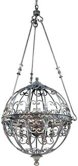 wrought iron sphere chandelier chandeliers iron orb chandelier wrought with crystal black