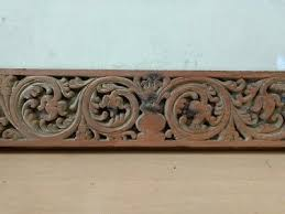 wooden wall panel hand fl carved