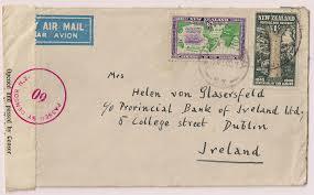 File Nz 1940 Horseshoe Route Airmail Censor To Ireland Jpg