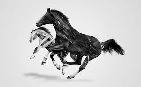無料壁紙馬をデザインしたかっこいいイラスト画像まとめ