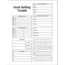 Free Goal Setting Template Worksheet Pdf Post Business