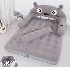 blow up furniture. My Neighbor Totoro Inflatable Double Sofa Air Cushion Bed Couch Blow Up Mattress With Pump EC Furniture R