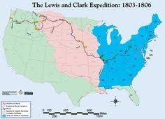 the lewis and clark expedition was the first american expedition   history week6 map of lewis and clark s expedition overlayed louisiana purchase