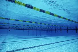 underwater view of lanes in swimming pool