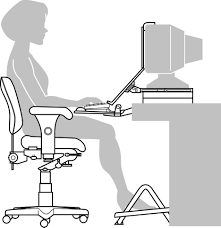 innovative ergonomic desk setup with setting up your computer worksrtation worksafe notes