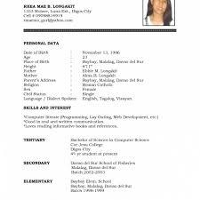 Resume Format Blank Pdf Resume Templates Design Cover Letter